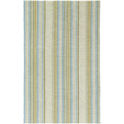 Greater Carrollwood Hand-Woven Blue/Yellow Area Rug Rug Size: 5 x 8