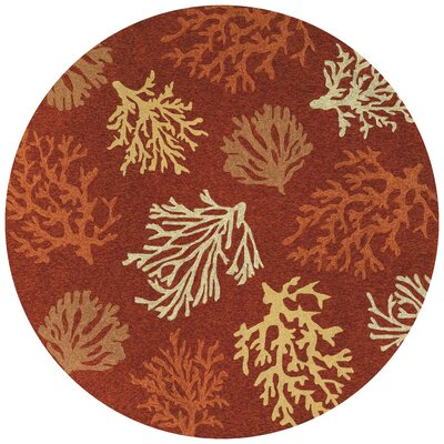 Rundall Sea Reef Indoor/Outdoor Rug Rug Size: Round 710