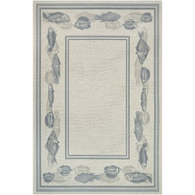 Sitka Ivory Indoor/Outdoor Area Rug Rug Size: 53 x 76