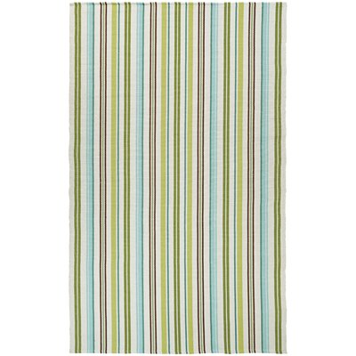 Greater Carrollwood Hand-Woven Caribbean Breeze/Green Area Rug Rug Size: 2 x 3