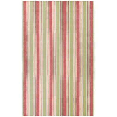 Greater Carrollwood Hand-Woven Raspberry/Lemonade Area Rug Rug Size: 5 x 8
