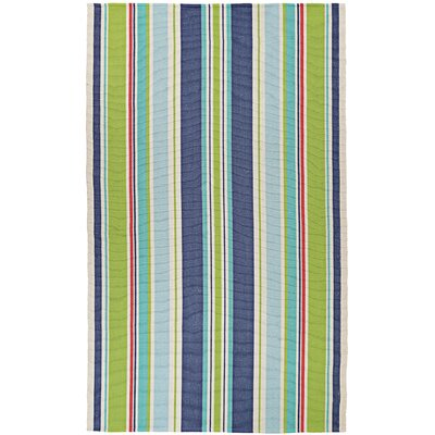 Greater Carrollwood Hand-Woven Green/Blue Area Rug Rug Size: 5 x 8