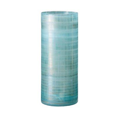 Blue Frost Table Vase Size: 14.96 H x 5.91 W x 5.91 D