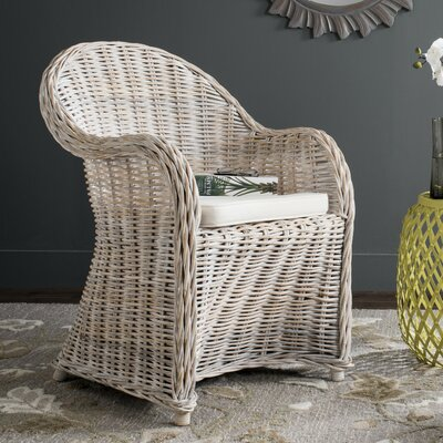 Mustique Armchair Upholstery: Natural White Wash
