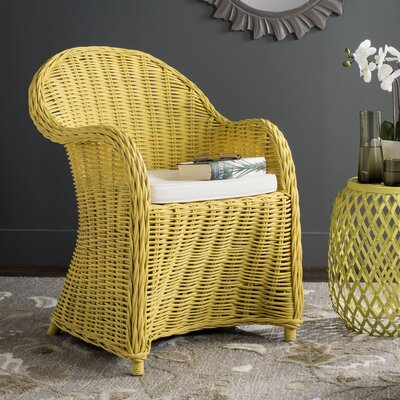 Mustique Armchair Fabric: Yellow