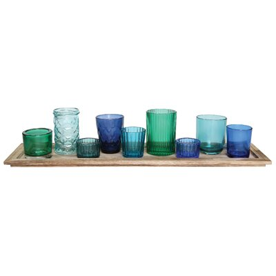 Beachcrest Home 10 Piece Traditional Glass Votive Set