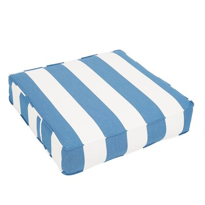 Outdoor Dining Chair Cushion Fabric: Blue/ White