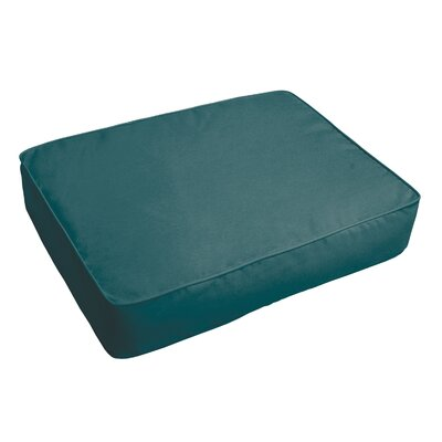 Outdoor Sunbrella Ottoman Cushion Fabric: Teal