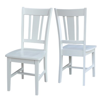 Hampton Solid Wood Dining Chair Finish: Weathered Gray
