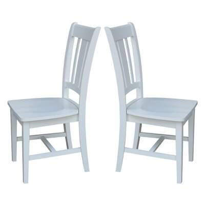 Doug Solid Wood Dining Chair Finish: Weathered Gray
