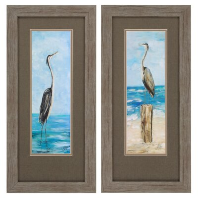 Seaside 2 Piece Framed Painting Print Set BCHH2385 34911675