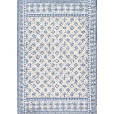 Valrie Blue Indoor/Outdoor Area Rug Rug Size: 53 x 76