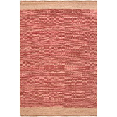 Boughner Hand-Woven Bright Red/Khaki Area Rug Rug size: Rectangle 8 x 10