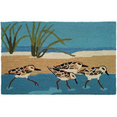 Cockerham Oceanside Sandpipers Area Rug Rug Size: 110 x 210