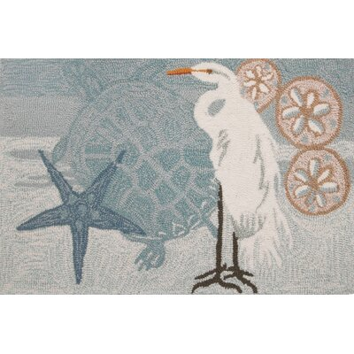 Cockerham Coastal Egret Area Rug Rug Size: 110 x 210