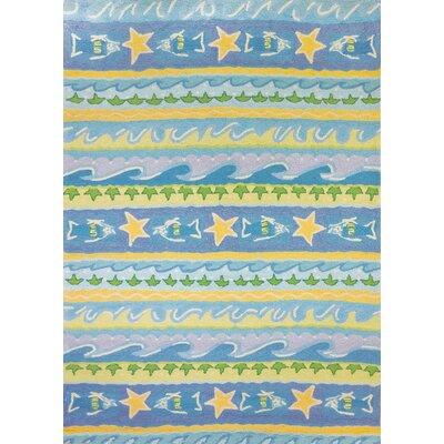 Nenana Blue Waves Area Rug Rug Size: 5 x 7