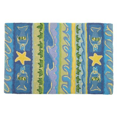Artemisia Waves and Starfish Area Rug Rug Size: 110 x 210