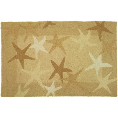 Cockerham Starfish Field Beige Area Rug Rug Size: 210 x 210