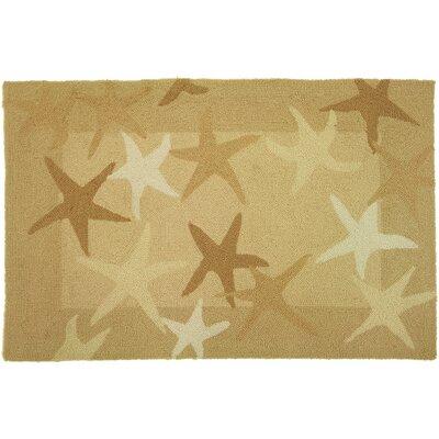 Nenana Starfish Field Beige Area Rug Rug Size: 210 x 210