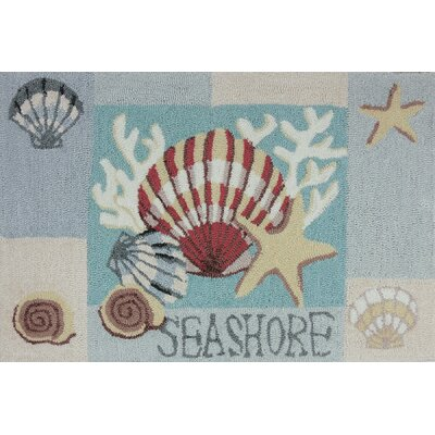 Cockerham Key West Clam Shell Area Rug Rug Size: 110 x 210