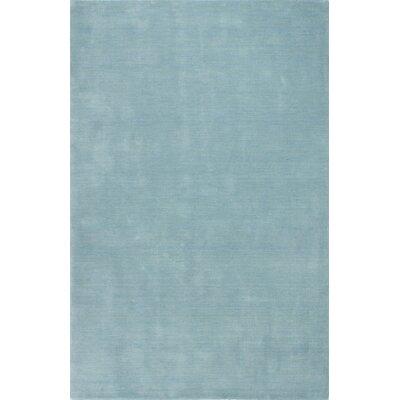 Huslia Hand-Woven Light Blue Area Rug Rug Size: 86 x 116