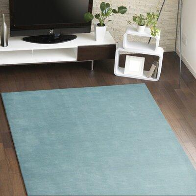 Huslia Hand-Woven Light Blue Area Rug Rug Size: 5 x 76
