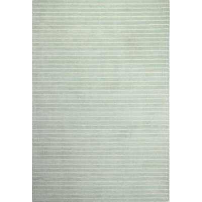 Huslia Light Green Area Area Rug Rug Size: 36 x 56