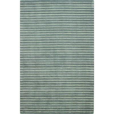 Huslia Grey Area Rug Rug Size: 36 x 56