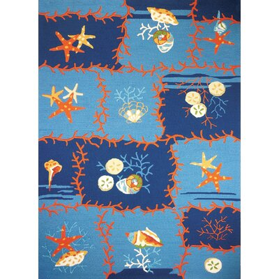 McGrath Ocean Coral Multi Indoor/Outdoor Area Rug Rug Size: 22 x 5