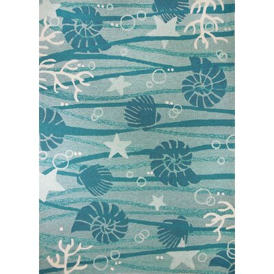 Coeymans Turquoise/White Indoor/Outdoor Area Rug Rug Size: 3' x 5'