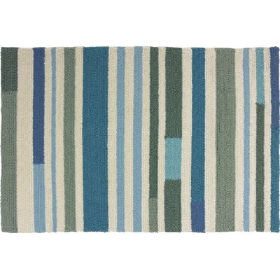 Coeymans Sea Breeze Stripes Indoor/Outdoor Area Rug Rug Size: 110 x 210