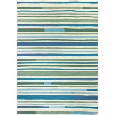 Coeymans Sea Breeze Stripes Indoor/Outdoor Area Rug Rug Size: 5 x 7