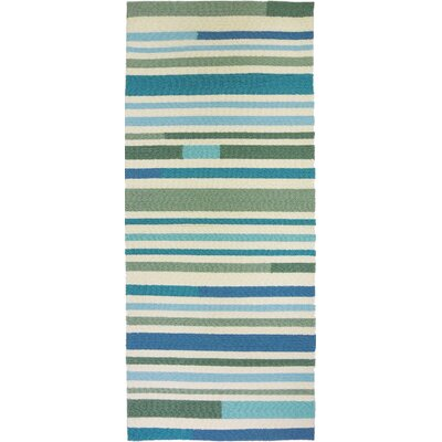Coeymans Sea Breeze Stripes Indoor/Outdoor Area Rug Rug Size: Runner 22 x 5