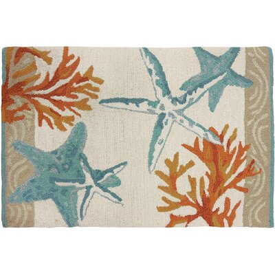 Cockerham Coastal Reef Hand-Woven Tan Area Rug