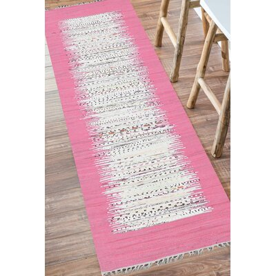 Grayling Turin Pink Area Rug Rug Size: Runner 26 x 8