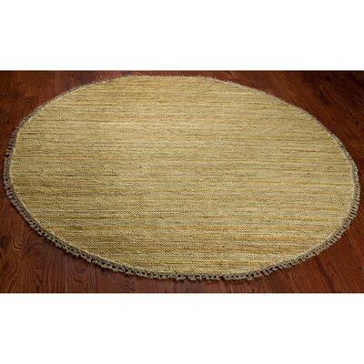 Ruby Natural Area Rug Rug Size: Round 6
