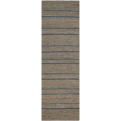 Ruby Blue Area Rug Rug Size: Runner 26 x 10