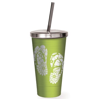 Wells Flip Flops Stainless Steel 16 oz. Insulated Tumbler BCHH2509 34945779