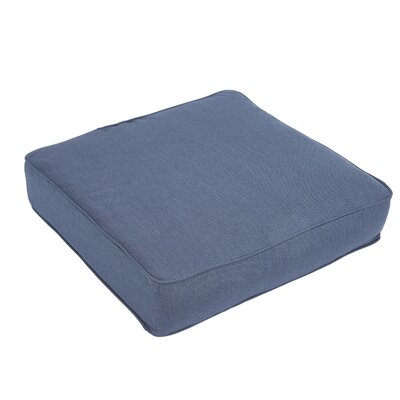 Outdoor Sunbrella Dining Chair Cushion Fabric: Regatta Blue