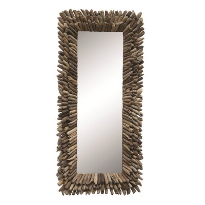 Furniture-Beachcrest Home Driftwood Framed Mirror