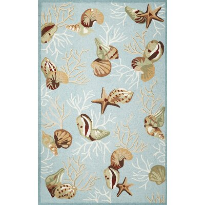 Chamberlin Blue Coral Reef Rug Rug Size: Rectangle 18 x 26
