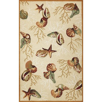 Chamberlin Beige Coral Reef Rug Rug Size: Rectangle 76 x 96