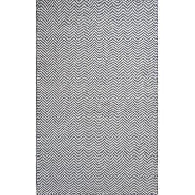 Zoya Ivory/Charcoal Wave Area Rug Rug Size: 33 x 53