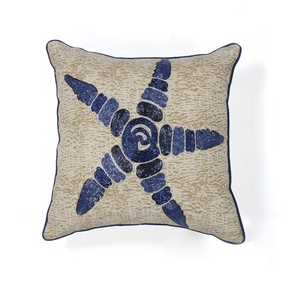 Nolan Starfish Elegance Cotton Throw Pillow