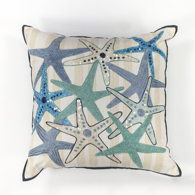 Wolfe Starfish Gala Cotton Throw Pillow