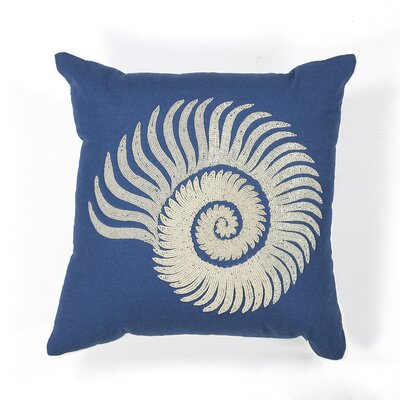 Radcliffe Seashell Spiral Cotton Throw Pillow