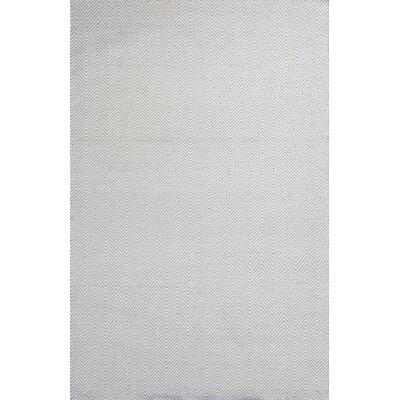 Zoya Ivory/Sand Waves Area Rug Rug Size: 33 x 53