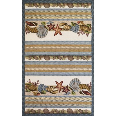 Gilpin Seashells Area Rug Rug Size: Rectangle 33 x 53