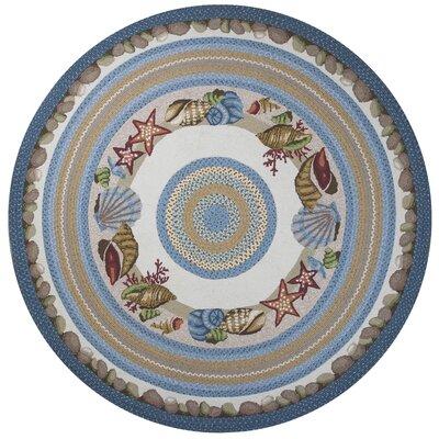 Gilpin Seashells Area Rug Rug Size: Round 76