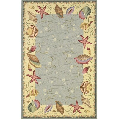 Livia Ocean Surprise Novelty Rug Rug Size: Oval 26 x 46
